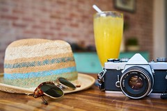 Cafe camera classic  - Credit to https://homegets.com/ (davidstewartgets) Tags: café camera classic closeup color design equipment eyewear fashion food fruit juice glass hat holiday indoors lens luxury orange reflection retro still life stylish summer sunglasses table technology travel vacation vintage wear