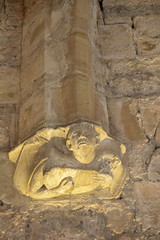 Minstrel (alasdair massie) Tags: stone france carving languedoc chateau vaulting minstrel cathar puivert castle corbel