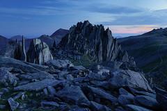 The Castle of the Winds (Andrew G Robertson) Tags: castell y gwynt glyder fach snowdonia wales blue hour glyderau tryfan snowdon mountain ogwen caernarfon fawr
