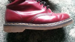 20180305_101018 (rugby#9) Tags: drmartens boots icon size 7 eyelets doc docs doctormarten martens air wair airwair bouncing soles original 14hole lace docmartens dms cushion sole yellow stitching yellowstitching dr comfort cushioned wear feet dm 14 hole cherry indoor 1914 boot footwear shoe macro