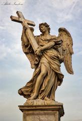 Angelo con la Croce (Attilio Iacobone) Tags: art angel cross statue architecture bernini light cityscape roma rome italy italia castel santangelo croce photography photo canon