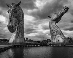 The Kelpies (Leanne Boulton) Tags: thekelpies thehelix horse sculpture sky landscape urban street urbanlandscape art andyscott horses mythical myth magical mystical water canal river clouds cloudy drama dramatic tone texture detail depth naturallight outdoor light shade shadow scene human life living humanity society culture canon canon5d 5dmkiii wideangle 24mm ef2470mmf28liiusm black white blackwhite bw mono blackandwhite monochrome falkirk scotland uk