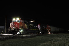 CN 2905 (CC 8039) Tags: cn ic cc trains es44ac time exposure night moon lena illinois