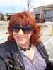 A Bright, Sunny Sunday Morning (Laurette Victoria) Tags: mall southridge milwaukee woman shopping laurette redhead sunglasses jacket necklace