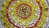 Microwave Sun (BKHagar *Kim*) Tags: bkhagar sun yellow glas art artwork microwave tray turntable pebbles round