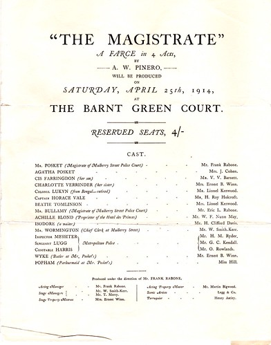 1914: The Magistrate Programme