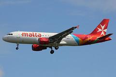 9H-AEK | Airbus A320-214 | Air Malta (cv880m) Tags: london heathrow lhr uk britain england aviation airliner airline aircraft airplane jetliner 9haek airbus a320 320200 320214 airmalta malta maltesecross