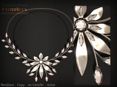 KUNGLERS - Cibeli AD crystal (AvaGardner Kungler) Tags: necklace secondlife avagardnerkungler avakungler kunglers vintage jewelry virtual digital mesh fashion sense