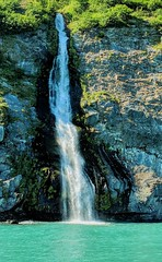 Prince William Sound Waterfall (GalaxyFan (Bighorn Photography)) Tags: googlepixel2 google pixel2 cameraphone phonecamera cameraphonephotography alaska whittier whittieralaska princewilliamsound princewilliamsoundalaska waterfall awesomecolors awesomeshot coloradophotographer beautfullight beautifulencounter