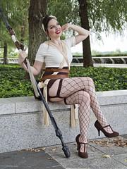 """Pinup Rey"" (dckellyphoto) Tags: pinuprey rey cosplay reycosplay reydotham starwars kennedycenter washingtondc districtofcolumbia woman women female model photoshoot canon canon1300d fishnets stockings heels 1940s pinup lipstick"