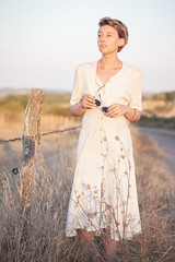 Pretty Sunset (Alexis Cayot) Tags: 70 cayot sunset lison bassenormandie fashion canon l is pale 5d zoom eos modele france f4 alexiscayotfr portrait mode soleil ef calvados 200 coucher markii alexis