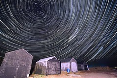 percy04 (dickie44) Tags: nightscape landscape strtrail rotation polaris spinning norfolk wintertononsea huts beach dunes