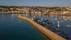St Ives Harbour at Sunrise (Explore! 11.08.18) (bretton98) Tags: cornwall davidwhitephotography mavicpro stives bretton98 drone saintives england unitedkingdom gb seascape