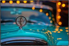The Edsel (drpeterrath) Tags: canon eos5dsr 5dsr auto car culture show edsel vintage classic turqoise lights reflection nightphotography closeup