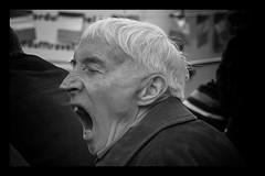 Tired (Frank Fullard) Tags: frankfullard fullard tired yawn bored candid street portrait sleep expression face lol fun monochrome blackandwhite blanc noir