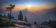 YOS SUNRISE GLACIER POINT (1 of 1) (Mike Filippoff) Tags: yosemite fire ferguson smoke mountain landscape glacierpoint halfdome trees sunrise california smokey wood tree sky mountainside ngc dawn