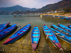 Phewa Lake Sunset, Pokhara, Nepal (CamelKW) Tags: abc annapurnabasecamptrek annapurnaregiontrek kathmandu mbc machapuchare machapucharebasecamp nepal pokhara