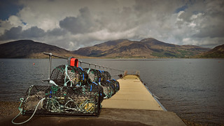 Creels on the Jetty..