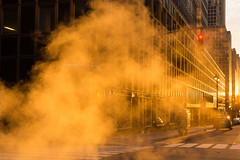 Steaming Sunrise (Harry2010) Tags: lexingtonavenue newyork steam sunrise outdoors buildings street