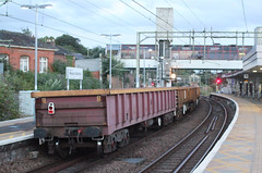 MLA . 503545 . (AndrewHA's) Tags: bishopsstortford hertfordshire railway station trains train freight ballast mla bogie open box wagon 503545