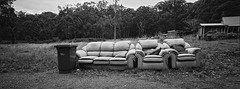 2180 ii (@fotodudenz) Tags: hasselblad xpan film rangefinder 30mm ultra wide angle ilford xp2 super near daylesford ballan road leondards hill victoria melbourne panorama panoramic couches 35mm rubbish roadside