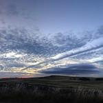 Strange clouds at sunset thumbnail