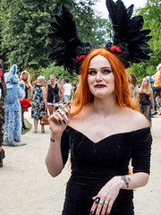 Castlefest 2018 Redhead (FishOnChips) Tags: castlefest cosplay lisse netherlands olympus steampunk