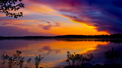 Rest in Peace (Bob's Digital Eye) Tags: bobsdigitaleye canon clouds dusk efs24mmf28stm flicker flickr july2018 lakesunsets silhouette sky skyscape sunset sunsetsoverwater t3i laquintaessenza water serene lake