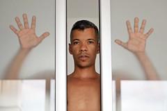 Reginaldo # 10 (just.Luc) Tags: man male homme hombre uomo mann shirtless barechested portret portrait ritratto retrato porträt face gezicht visage gesicht hands mains handen hände