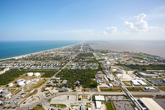 Cape Canaveral from Above (alloyjared) Tags: spacex falcon9 portcanaveral merahputih spacecoast florida jettypark helicopter aerialphotography floridaairtours