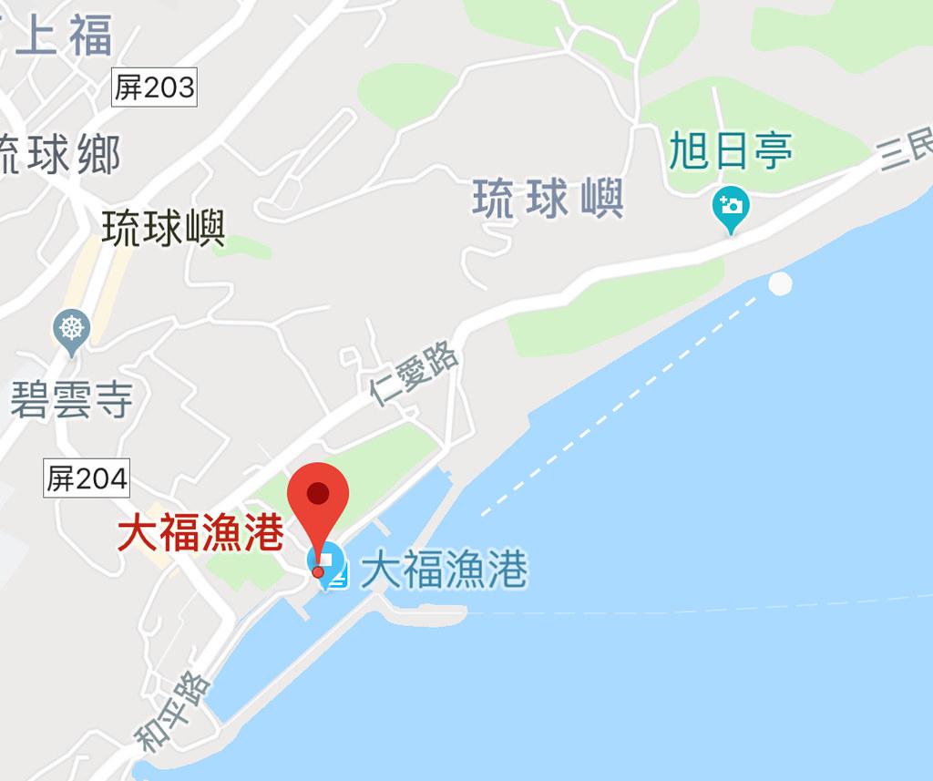 小琉球景點浮木秘境地圖