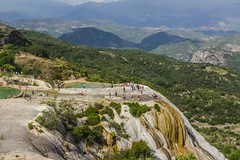 Natural site of Hierve el agua in Oaxaca Mexico (iknuitsin) Tags: destination ecology editorial geological hierveelagua landmark latinamerica mexico natural nature oaxaca petrified photograph touristattraction travel waterfalls
