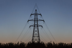before electric light (gavin.hoskins) Tags: silhouette pylon gradient sunset sky symmetry lines electric outside outdoors canon canoneos5dmarkiii 5dmarkiii carlisle cumbria evening