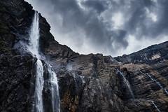 Gavarnie Falls (PascallacsaP) Tags: waterfall cascade grandecascadedegavarnie cirquedegavarnie hautespyrénées france gavarnie midipyrénées pyrenees keteldal cirque cliffs sky clouds drama dramatic contrast water rocks occitanie