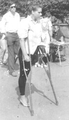 60's Amputee (jackcast2015) Tags: handicapped disabled disabledwoman cripledwoman onelegwoman oneleggedwoman monopede amputee legamputee crutches crippledwoman 1960s