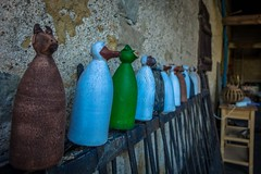Some fun old milk bottles in the barn.