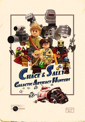 Chace And Sally Poster (-Leot-) Tags: chace sally lego galactic artifact hunters leot space spaceship ship guns adventure comicbook comic book love brick poster solo baby discosun disco sun emergence jkemergence production