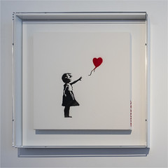 Girl With Balloon (Paul Parkinson LRPS CPAGB (parkylondon)) Tags: banksy london august 2018 lazinc exhibition
