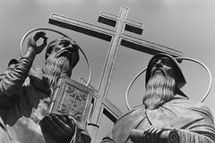 Cyril and Methodius in Kolomna (Andrey  B. Barhatov) Tags: kolomna moscowregion russia russianfederation sculpture art orthodoxy orthodox orthodoxe ru filmphotography filmphoto filmfilmforever filmoriginal filmtype135 filmisnotdead filmmood film analog monochrome monotone blackandwhite noiretblanc blackandwhiteonly bnwfilm bnwmood bnwdark bw bnw artinbw geobw adoxchs100ii adox jupiter9 d76 grain pentaxspotmaticii pentax sredafilmlab pakonf235 barhatovcom monuments россия московскаяобласть коломна скульптура 2018 фотопленка пленка город городскиезаметки чб православие история