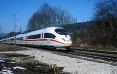 403 029  Gingen ( Fils )  24.02.03 (w. + h. brutzer) Tags: gingenfils eisenbahn eisenbahnen train trains deutschland germany ice railway zug db 403 webru analog nikon triebzug triebzüge