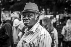 The Man in the Hat (Leanne Boulton) Tags: people hat portrait urban street candid portraiture streetphotography candidstreetphotography candidportrait streetportrait eyecontact candideyecontact streetlife man male face eyes expression mood feeling emotion style fashion atmosphere tone texture detail depthoffield bokeh naturallight outdoor light shade city scene human life living humanity society culture lifestyle canon canon5dmkiii 70mm ef2470mmf28liiusm black white blackwhite bw mono blackandwhite monochrome glasgow scotland uk