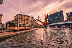 Cadorna Triennale, Milano (www.alexandremalta.com) Tags: alexandremalta square train cityscape sunset italy milan milano cadornatriennale