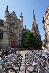Basilique Saint-Michel , Bordeaux, France (mattk1979) Tags: france europe bordeaux city buildings central town sun outdoors sky clouds basiliquesaintmichel church gothic spire