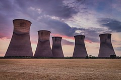 The Chimneys (alexcalver) Tags: sunset summertime england uk canon80d chimneys powerstation willington derbyshire removedfromstrobistpool nooffcameraflash seerule1