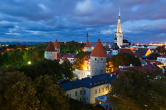 Tallinn. Harju, Estonia (Ed.Moskalenko) Tags: tallinn reval estonia europe landscape medieval church night travel tourism city historic baltic sea clouds buildings architecture