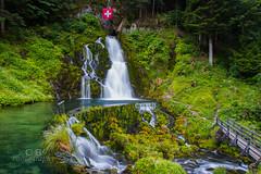 Waterfall @ Jaun II (Chrisdevillio) Tags: waterfall longexposure sightseeing touristic june schweizsuissejaun touristicplace nature water switzerland landscape green summer swiss langzeitbelichtung jaunpass jaun freiburg schweiz ch