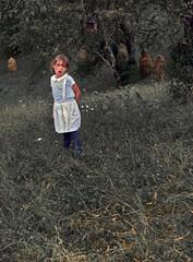 MARIA AND THE HAYSTACKS (LitterART) Tags: kind enfant child heuhiefl haystacks styria steiermark österreich austria nostalgie nostalghia