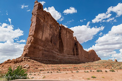 Tower of Babel, Arches National Park (Andrea Meyers) Tags: utah 2018 archesnationalpark entradasandstone towerofbabel rockformations geology highdesert
