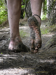 Natural footsteps (Barefoot Adventurer) Tags: barefoot barefooting barefoothiking barefooter barefeet barefooted baresoles barfuss wrinkledsoles woodland woodlandsoles wetmud earthstainedsoles earthsoles earthing muddysoles muddyfeet muddy toughsoles healthyfeet happyfeet hardsoles hiking anklet connected callousedsoles livingleather leathertoughsoles leathersoles footstep soles stainedsoles strongfeet woodlandmud toes texture roughsoles ruggedsoles