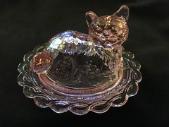 "My Latest Salt (mudder_bbc) Tags: glassware collecting collections ""saltcellars"" salts ""saltdips"" ""opensalts"" ""standingsalts"" ""saltdishes"" ""servingdishes"" condiments pink cat coveredsalts animals"